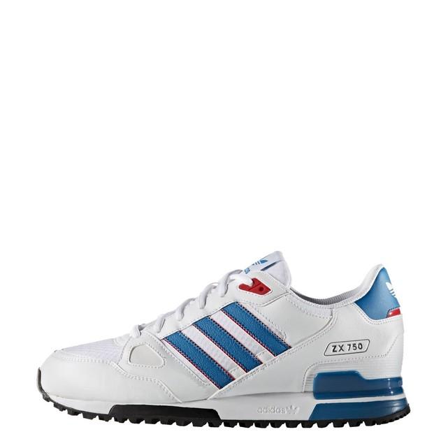 35b1156e78816e New Hommes  Adidas  Zx 750 Original Chaussures de course Gris Bleu Bleu  marin Blanc Rouge gentil Q242000002218 Adidas Originals ZX 750 Baskets Bleu  To ...