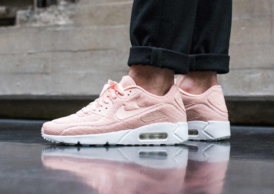 best website aba9f 93d00 ... germany nike air max 1 pinnacle faux chaussures de sport perforé nubuck  rose pastel onyx flash